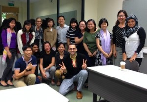 Training participants in Singapore