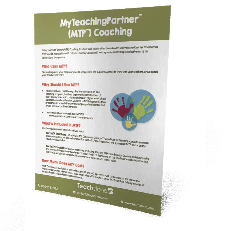 What is MyTeachingPartner (MTP) Coaching?