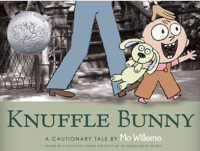 The Knuffle Bunny series by Mo Willems
