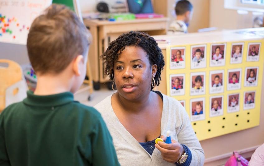 A teacher asks about a student's aggessive behavior