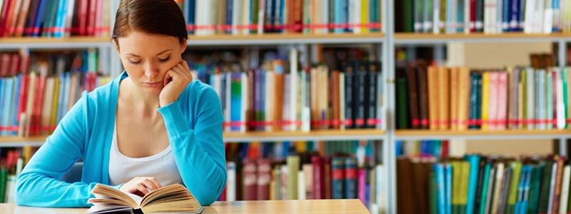 Student teacher studying