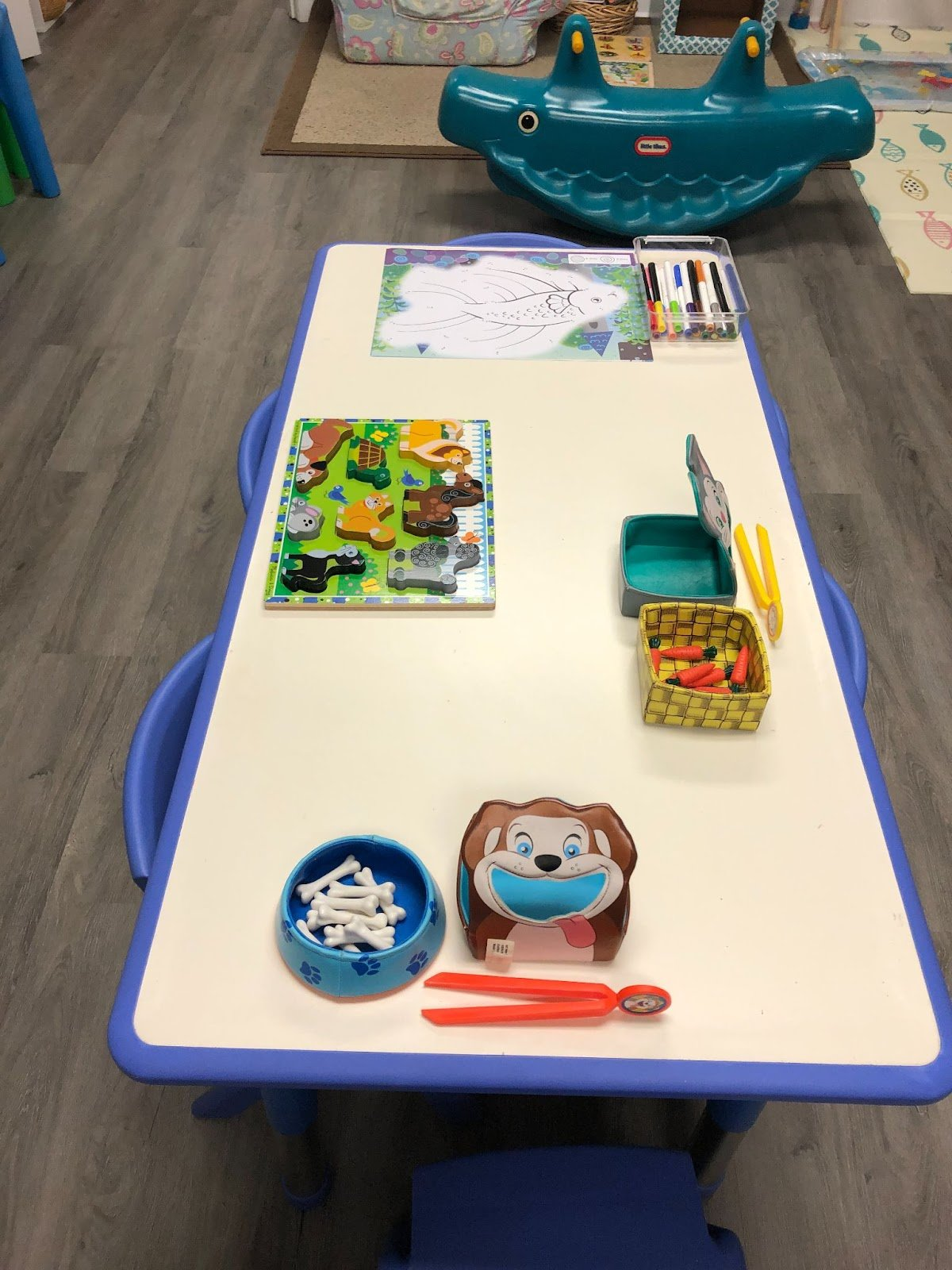 Art Table with Supplies