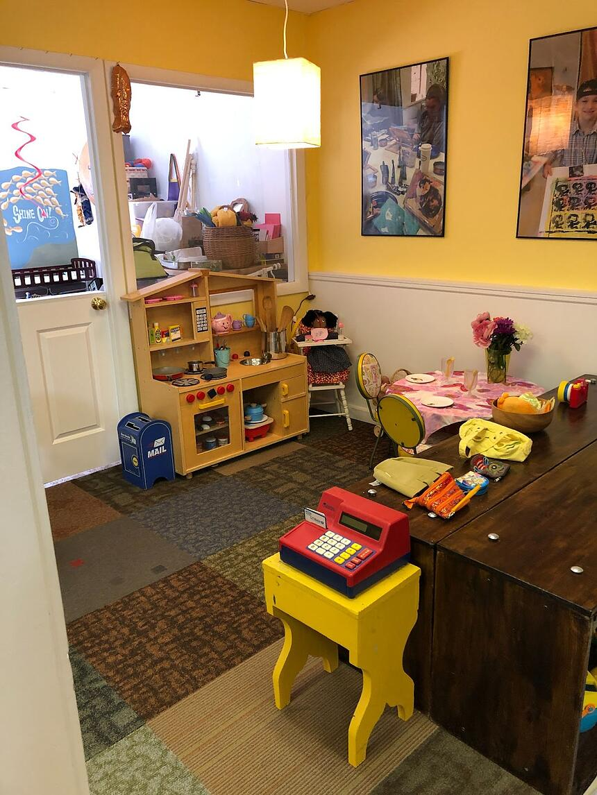 Warm and Inviting Play Area