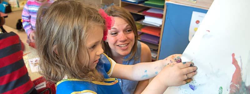 A teacher implementing effective teaching stategies